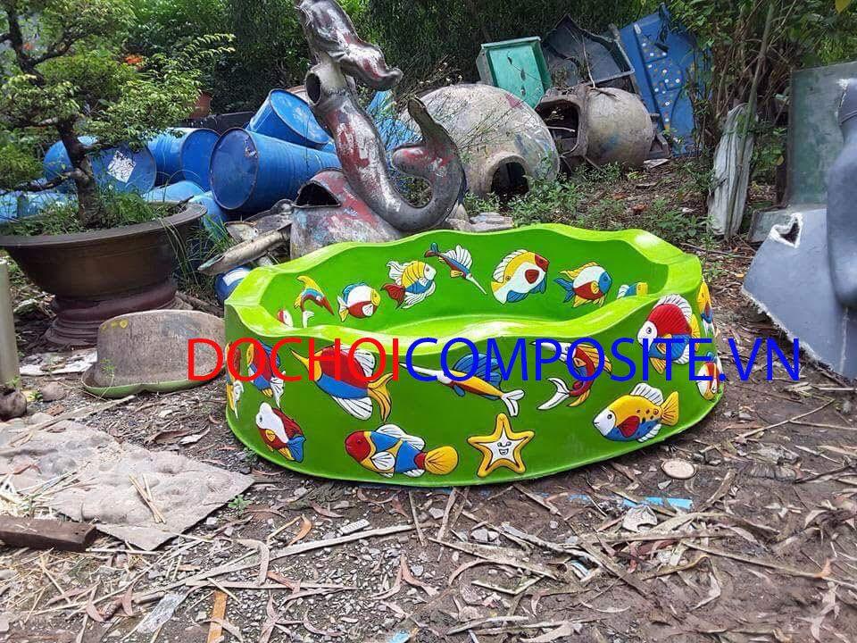Hồ câu cá trẻ em bằng nhựa
